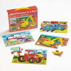 Sada 4 puzzle - Vozidlá - EY05158BB