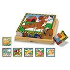Puzzle drevené kocky - domáce zvieratá - EY04314BB