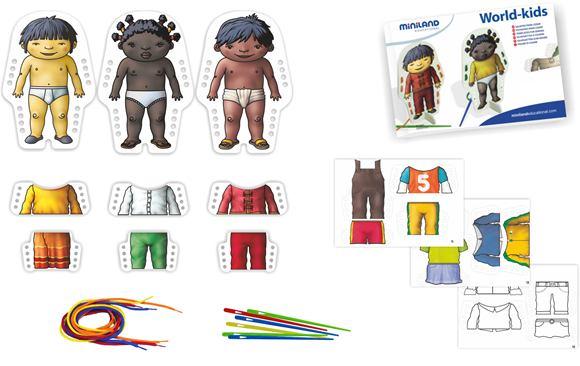 Obliekanie, vyšívanie, deti sveta - 36046M