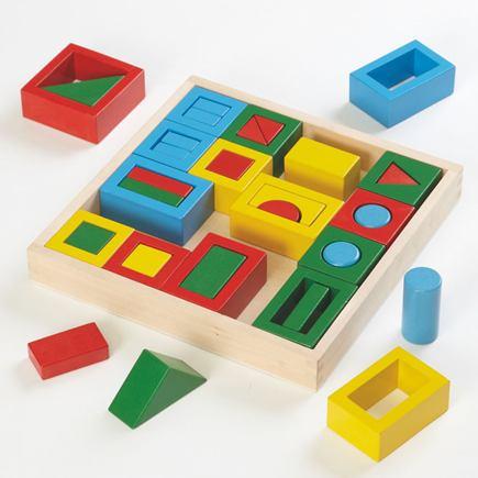 Drevené puzzle/stavebnica - tvary - EY04800BB