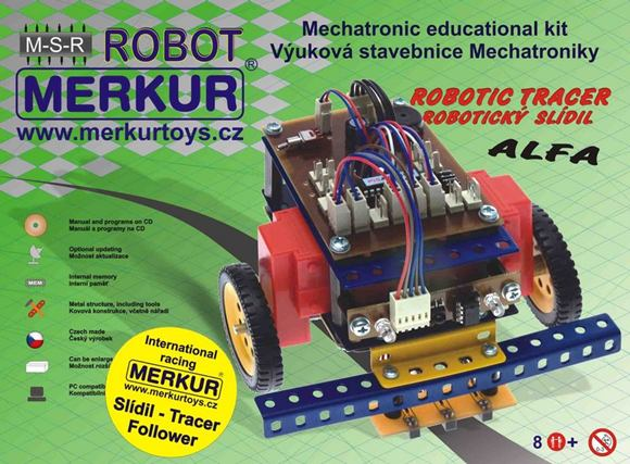 MERKUR Robotický Slídil ALFA RC- ATMEL - 040050